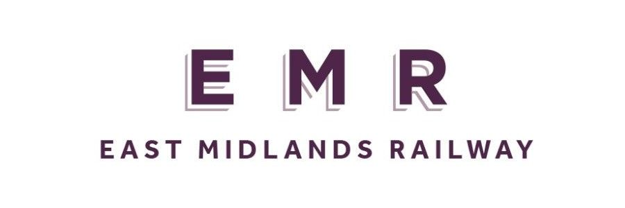 Image showing the East Midlands Railway (EMR) logo.