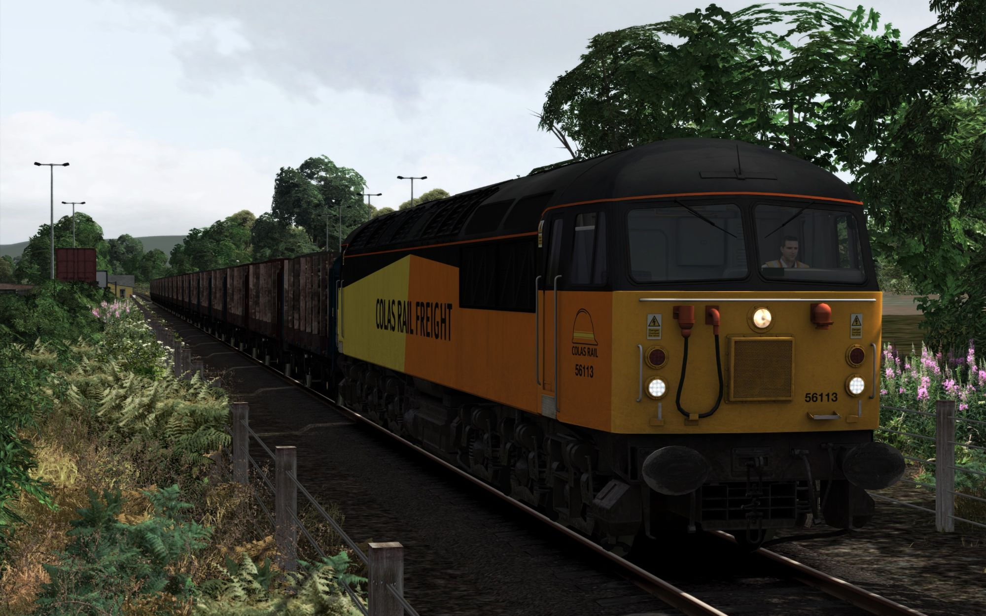 Image showing screenshot of the 6M51 - 0955 Teigngrace to Chirk Kronospan scenario