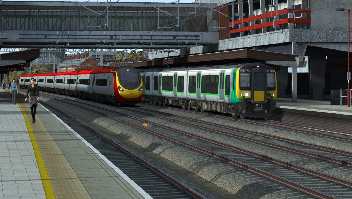 Image showing screenshot of the Class 390 Virgin Trains repaint