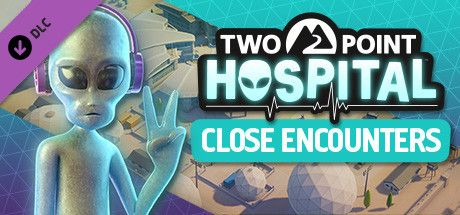 Clickable image taking you to the Steam store page for the Close Encounters DLC for Two Point Hospital