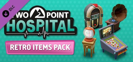Clickable image taking you to the Steam store page for the Retro Items Pack DLC for Two Point Hospital