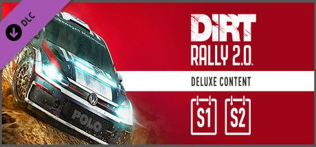 Clickable image taking you to the Steam store page for the Deluxe Upgrade Store Package (Season1+2) DLC for Dirt Rally 2.0.