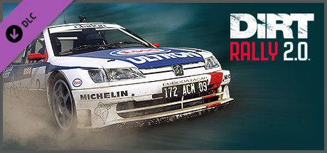 Clickable image taking you to the Steam store page for the Peugeot 306 Maxi DLC for DiRT Rally 2.0