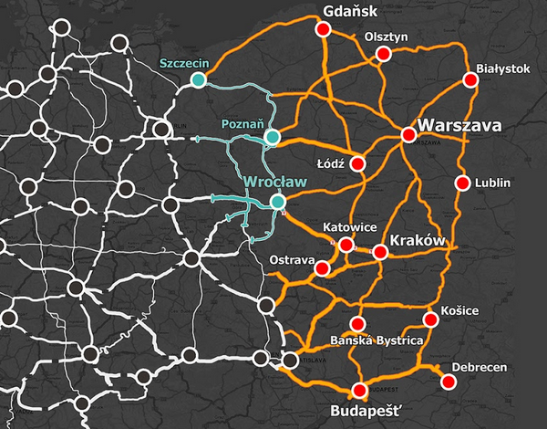 Image showing the map for Euro Truck Simulator 2 Going East!