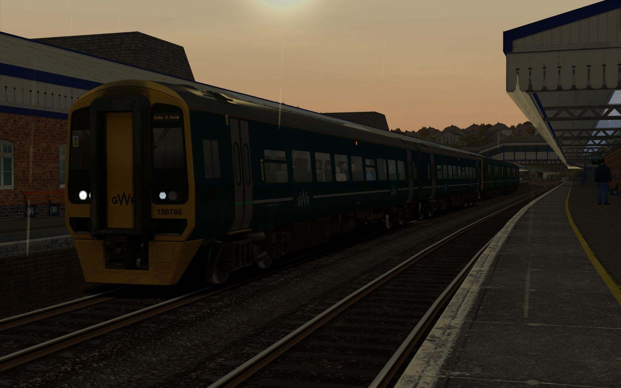 Image showing screenshot of the 2Z88 - 1735 Truro to Exeter St Davids scenario