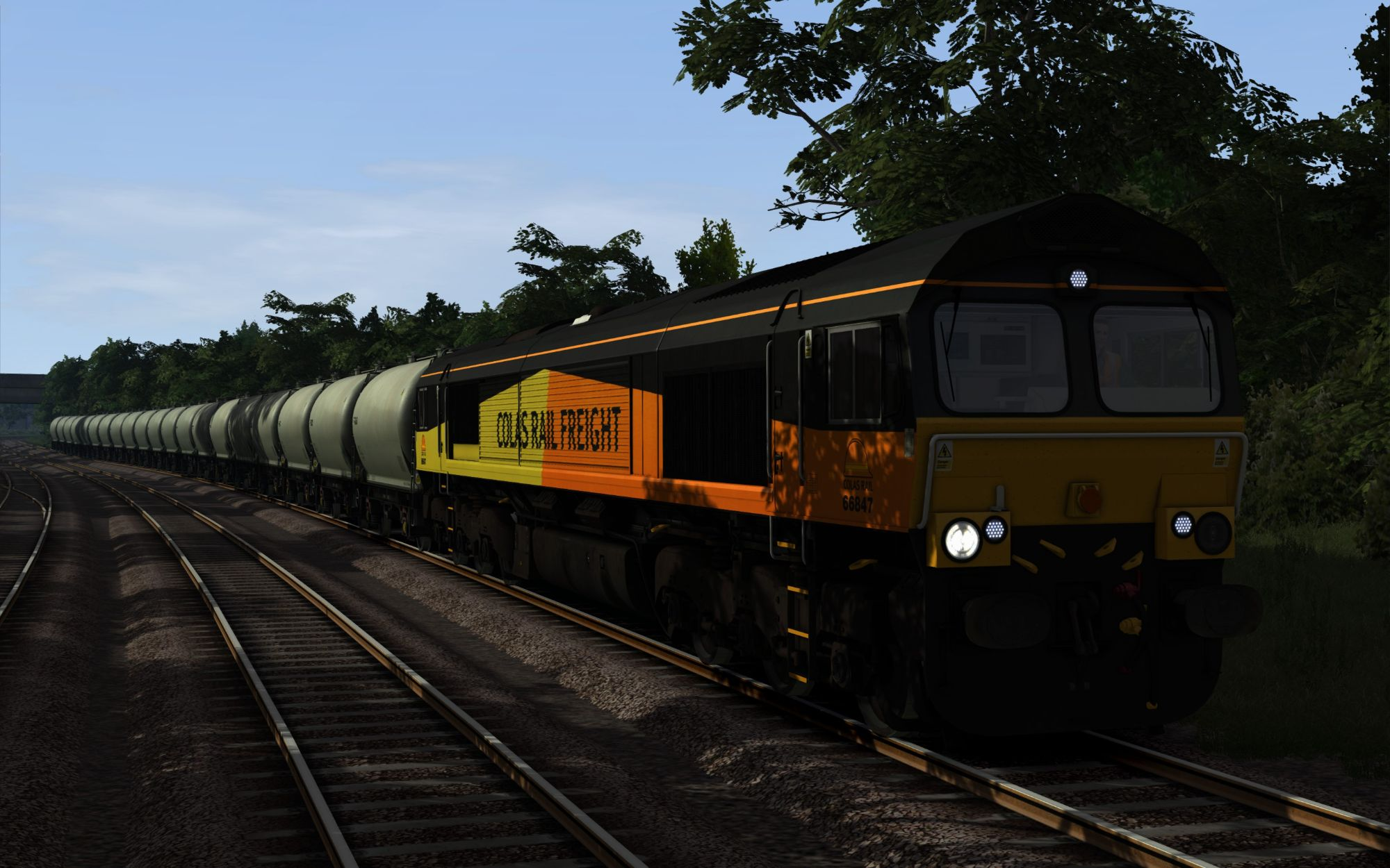 Image showing screenshot of the 6C36 - 0625 Moorswater to Aberthaw Part 2 scenario