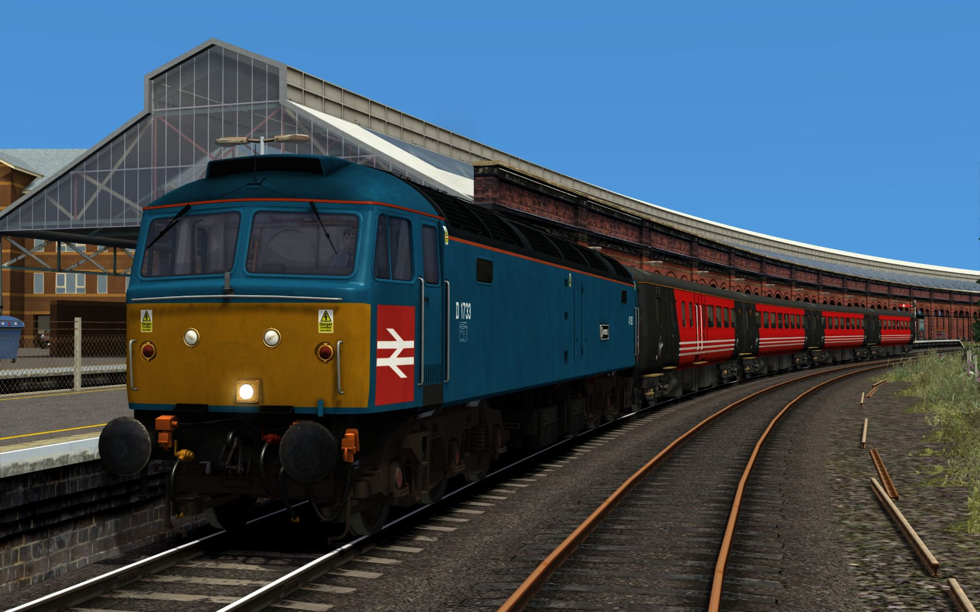 Image showing screenshot of the 1H52 - 1139 Holyhead to Manchester Piccadilly scenario