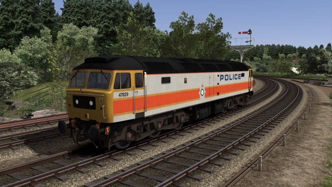 Image showing screenshot of repainted Class 47 locomotive from Vulcan Production