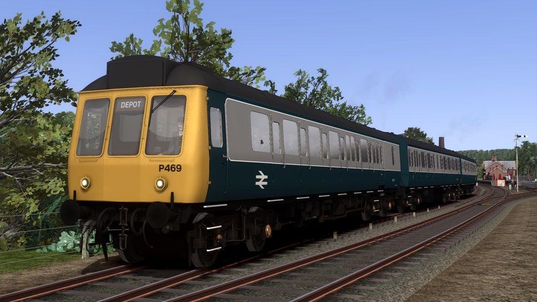 Image showing screenshot of repainted Class 117 DMU from Vulcan Productions