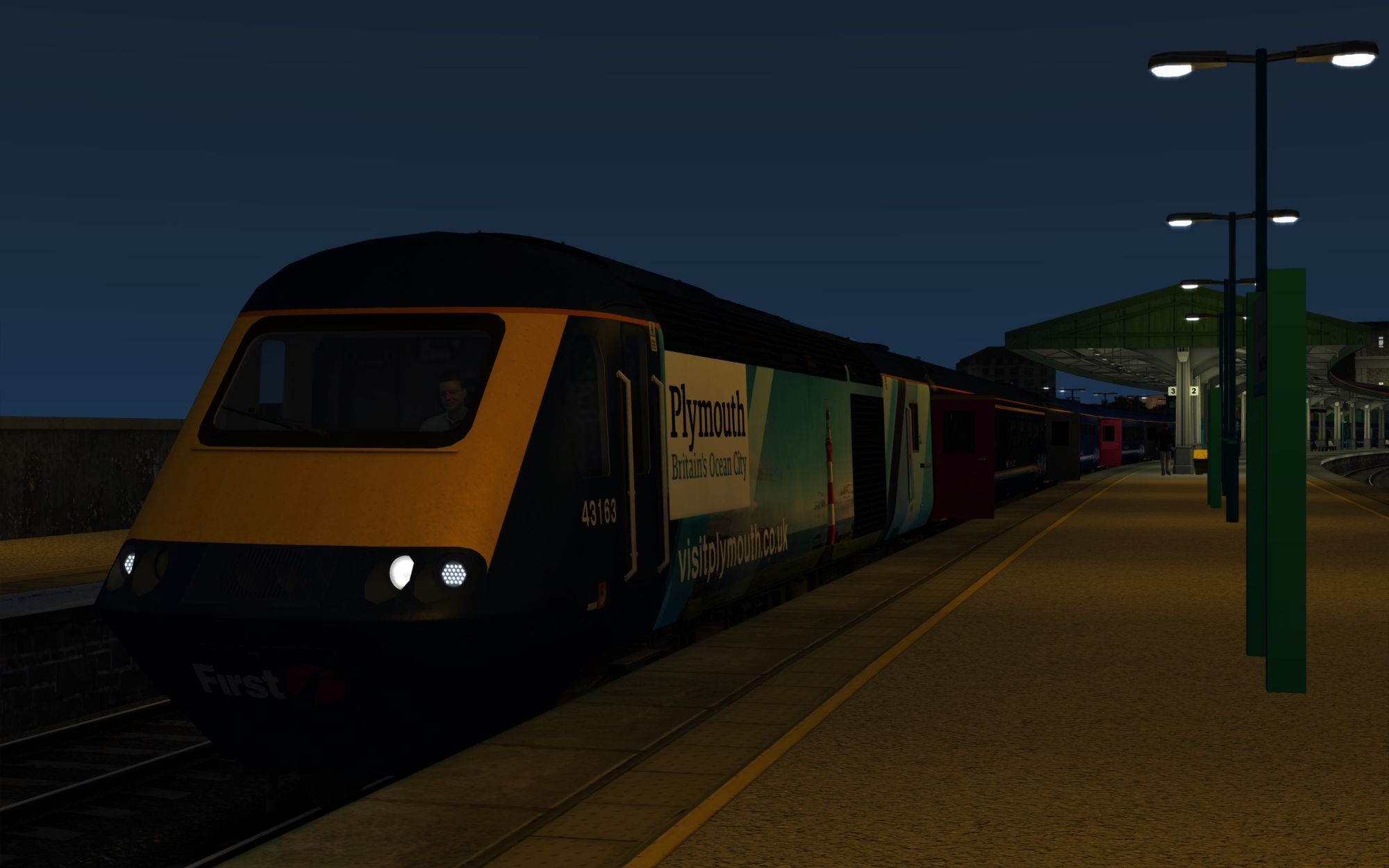 Image showing screenshot of the 1L24 - 0629 Swansea to London Paddington scenario