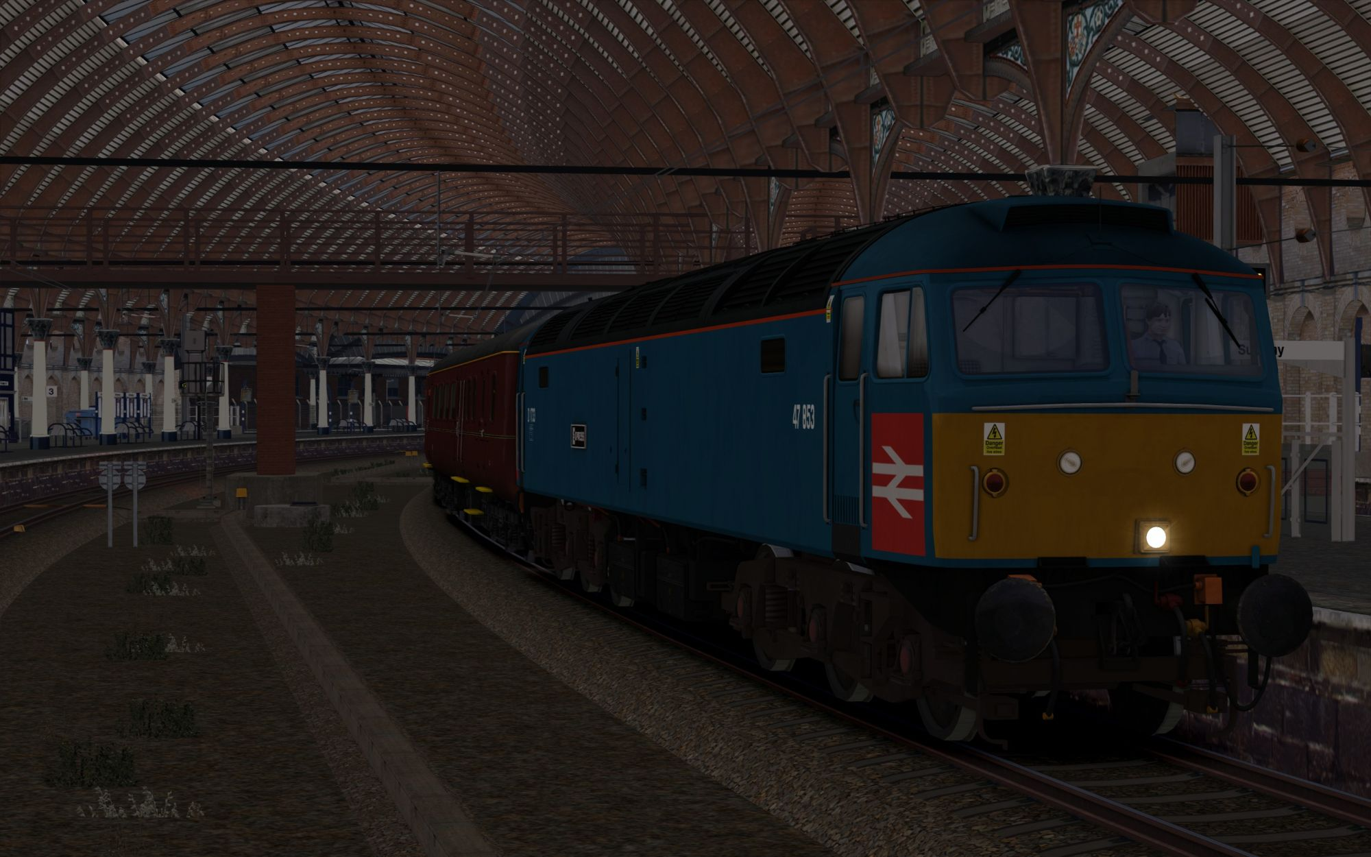 Image showing screenshot of the 1Z26 - 1626 York to Sunderland scenario
