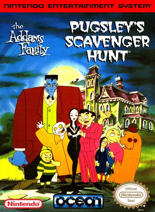 Image showing the The Addams Family: Pugsley's Scavenger Hunt box art
