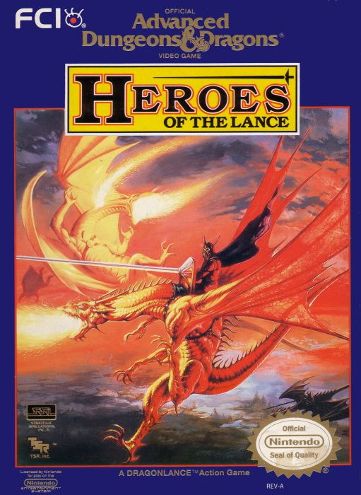 Clickable image taking you to the page for Advanced Dungeons & Dragons: Heroes of the Lance NES