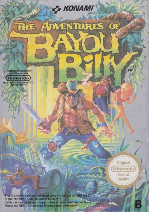 Image showing the The Adventures of Bayou Billy box art