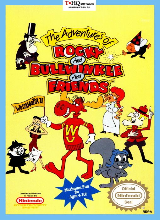 Clickable image taking you to the page for The Adventures of Rocky and Bullwinkle and Friends NES