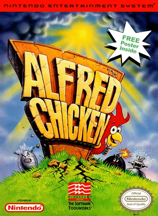 Image showing the Alfred Chicken box art