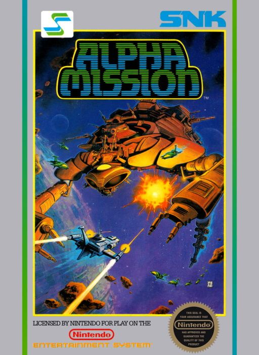 Image showing the Alpha Mission box art