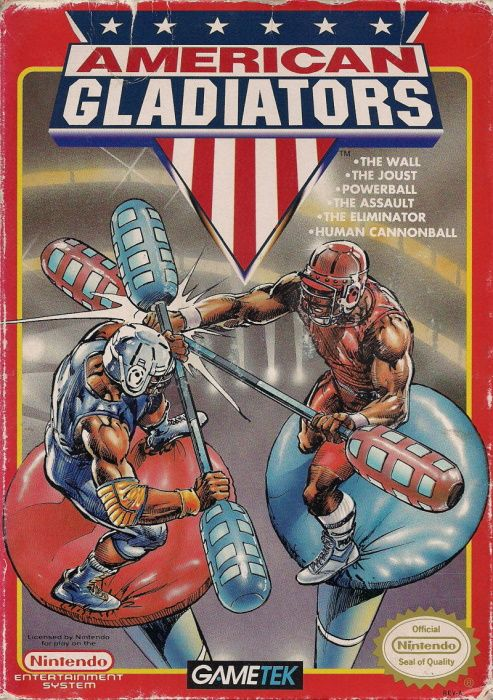 Clickable image taking you to the page for American Gladiators NES