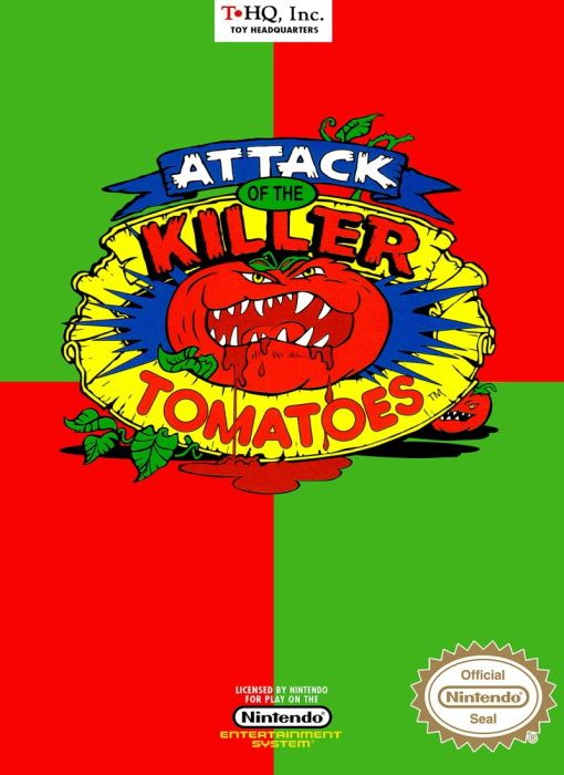 Clickable image taking you to the page for Attack of the Killer Tomatoes NES