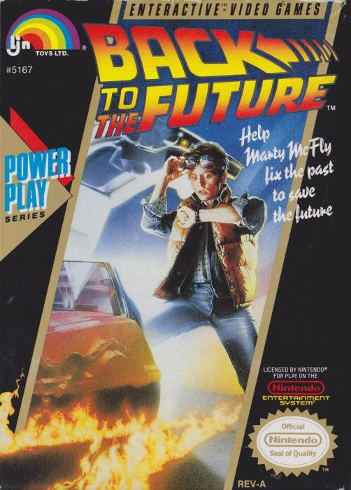 Clickable image taking you to the page for Back to the Future NES
