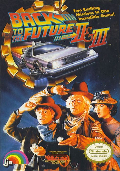 Clickable image taking you to the page for Back to the Future Part II & III NES