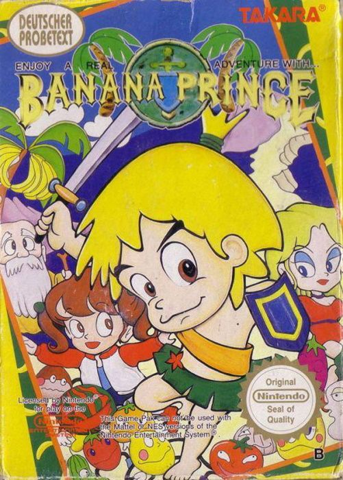Clickable image taking you to the page for Banana Prince NES