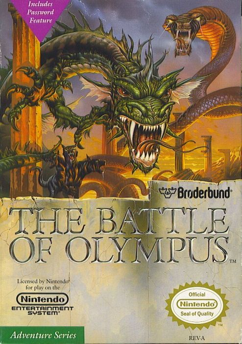 Clickable image taking you to the page for The Battle of Olympus NES