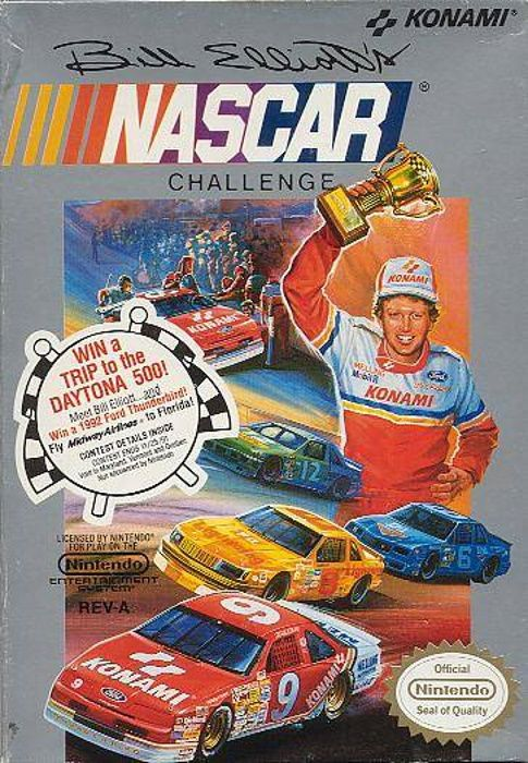 Clickable image taking you to the page for Bill Elliott's NASCAR Challenge NES