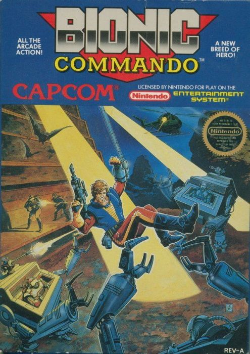 Clickable image taking you to the page for Bionic Commando NES