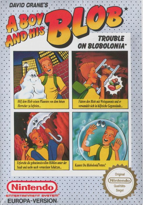 Clickable image taking you to the page for A Boy and His Blob: Trouble on Blobolonia NES