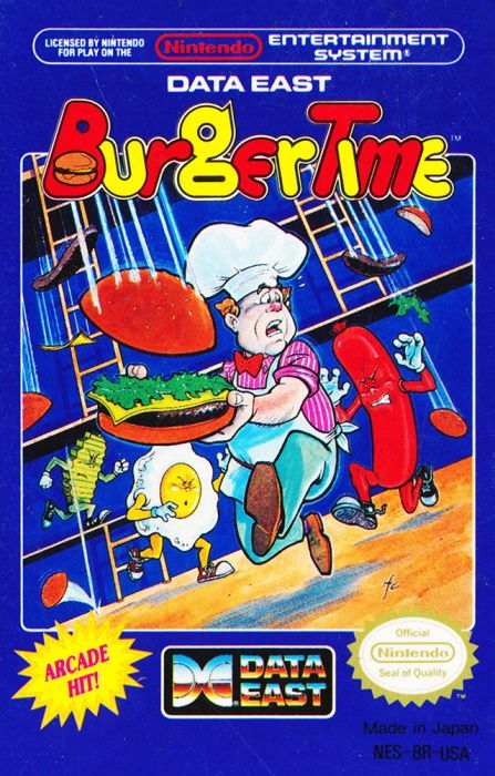 Clickable image taking you to the page for Burgertime NES