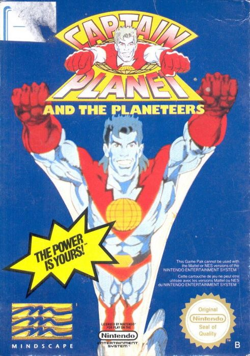 Image showing the Captain Planet and the Planeteers box art