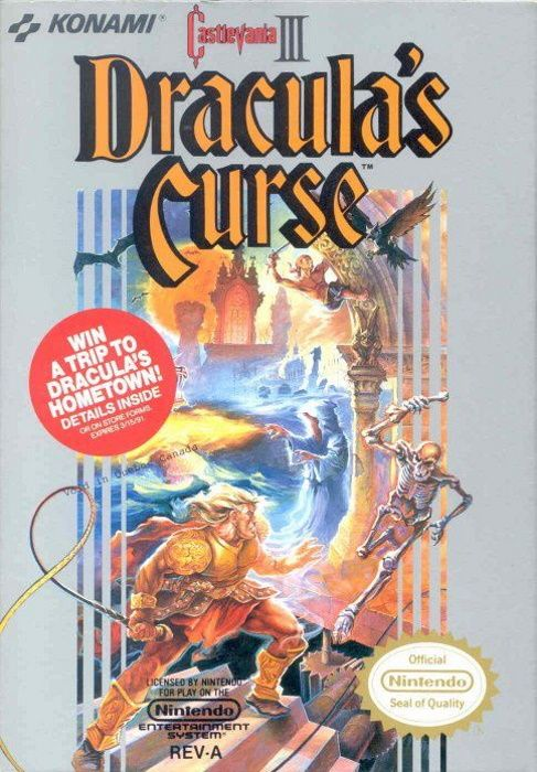 Clickable image taking you to the page for Castlevania III: Dracula's Curse NES