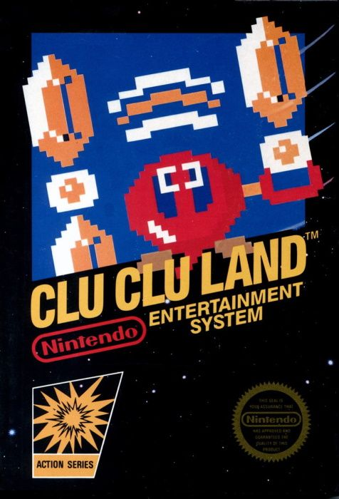 Clickable image taking you to the page for Clu Clu Land NES