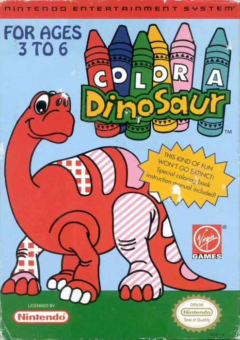 Image showing the Color a Dinosaur box art