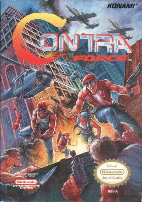 Image showing the Contra Force box art