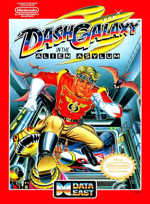 Image showing the Dash Galaxy in the Alien Asylum box art