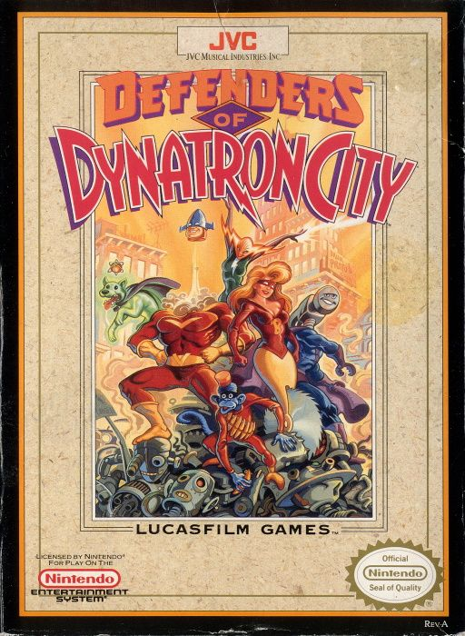 Image showing the Defenders of Dynatron City box art