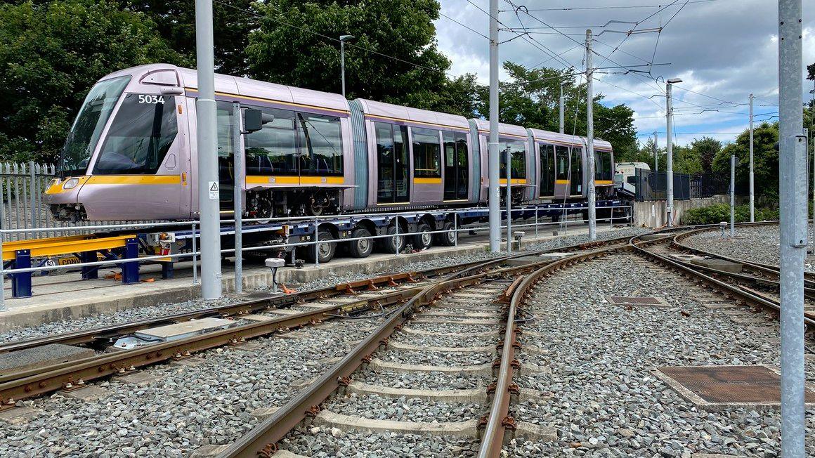 Image showing Alstom Citadis tram for Dublin