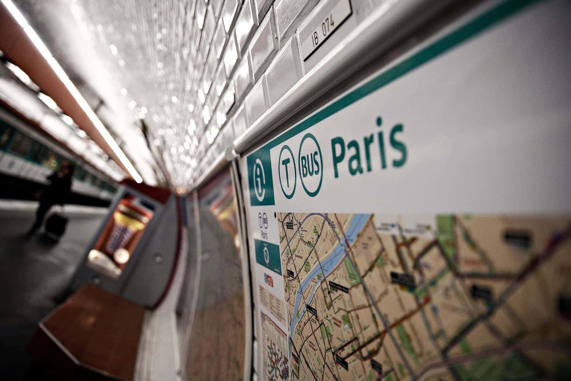 Image showing the Paris metro