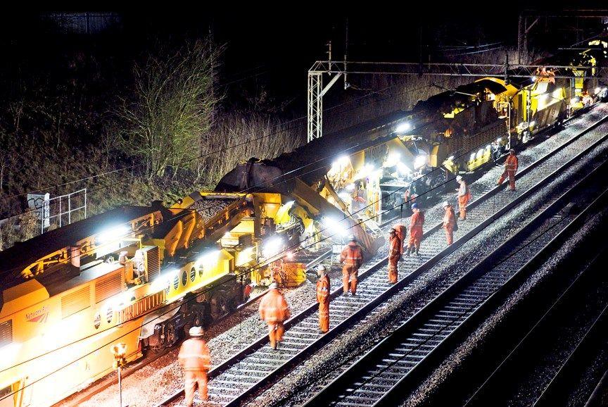 Image showing railway engineering works