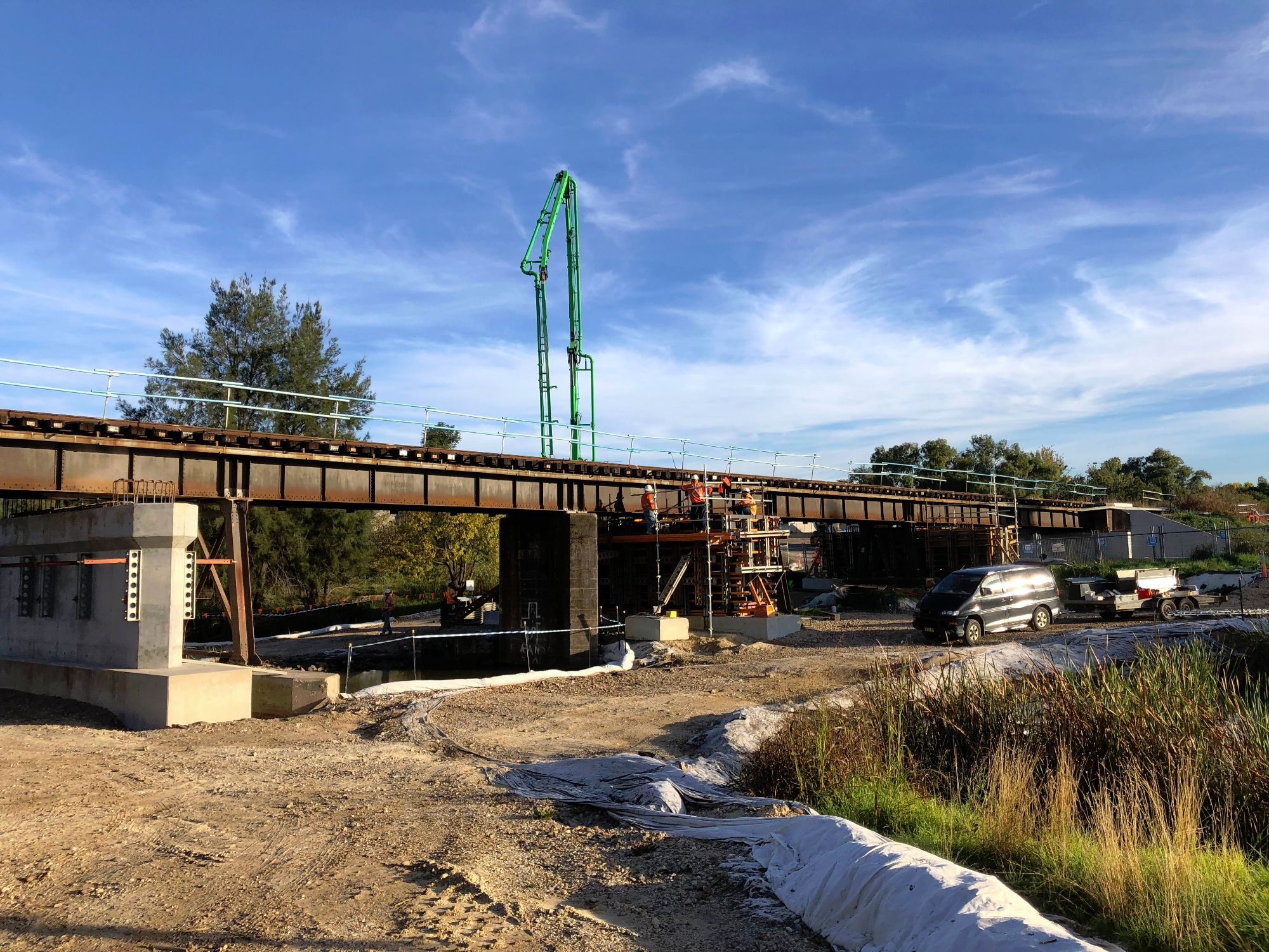 Image showing Hunter Valley bridge works