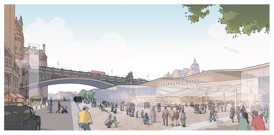 Image showing artists impression of the Waverley masterplan