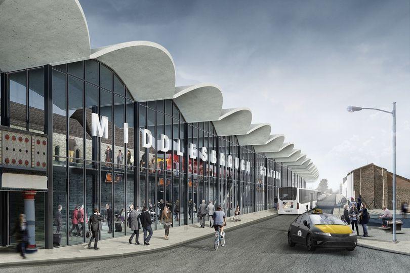 Image showing artists impression of revamped Middlesbrough station