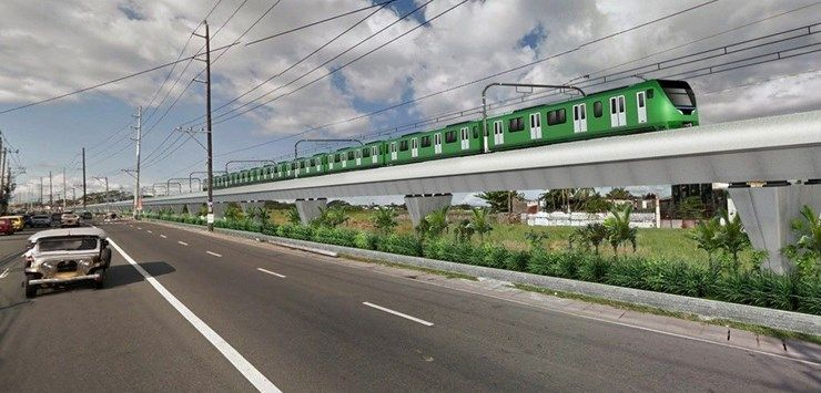 Image showing artists impression of the Malolos with Clark International Airport rail project