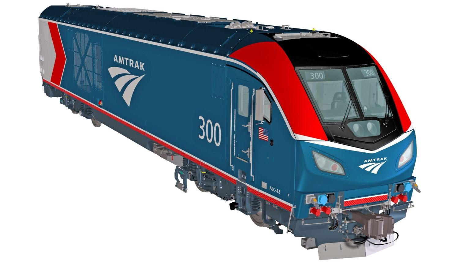 Image showing new livery that will be applied to the Siemens ALC-42 Charger locomotive