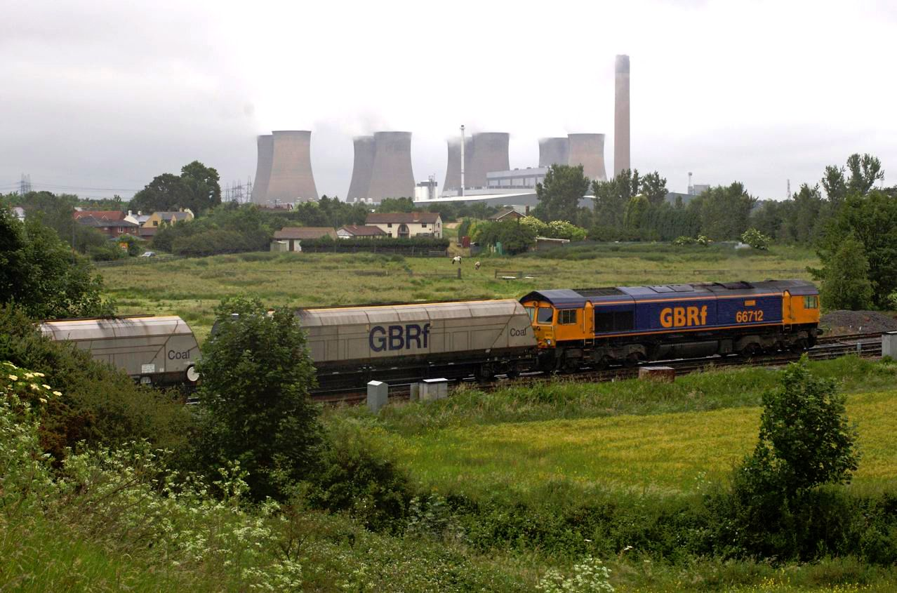 Image showing GBRf locomotive and wagons