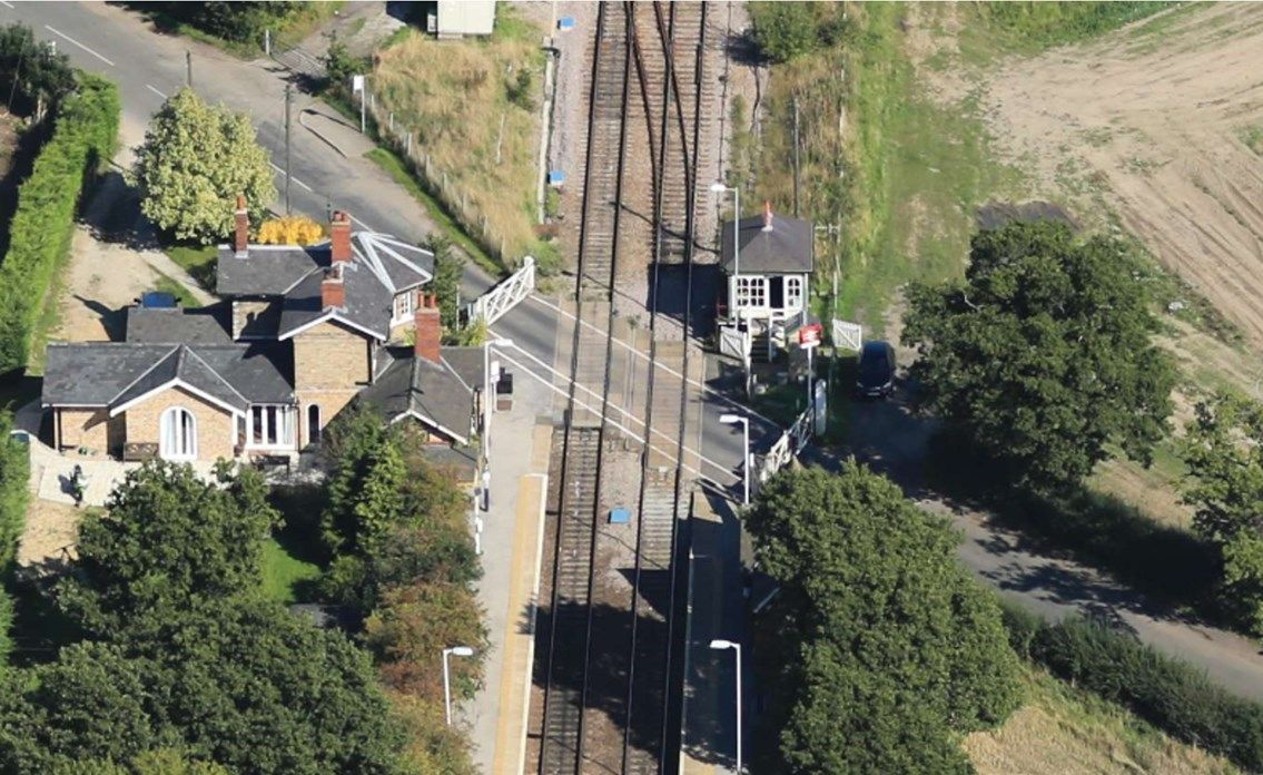 Image showing overhead view of the Newark to Lincoln line