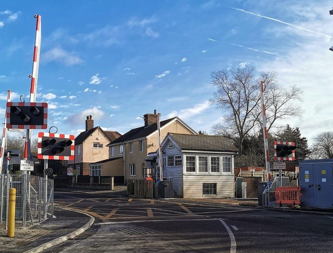 Image showing level crossing on the Wherry Lines