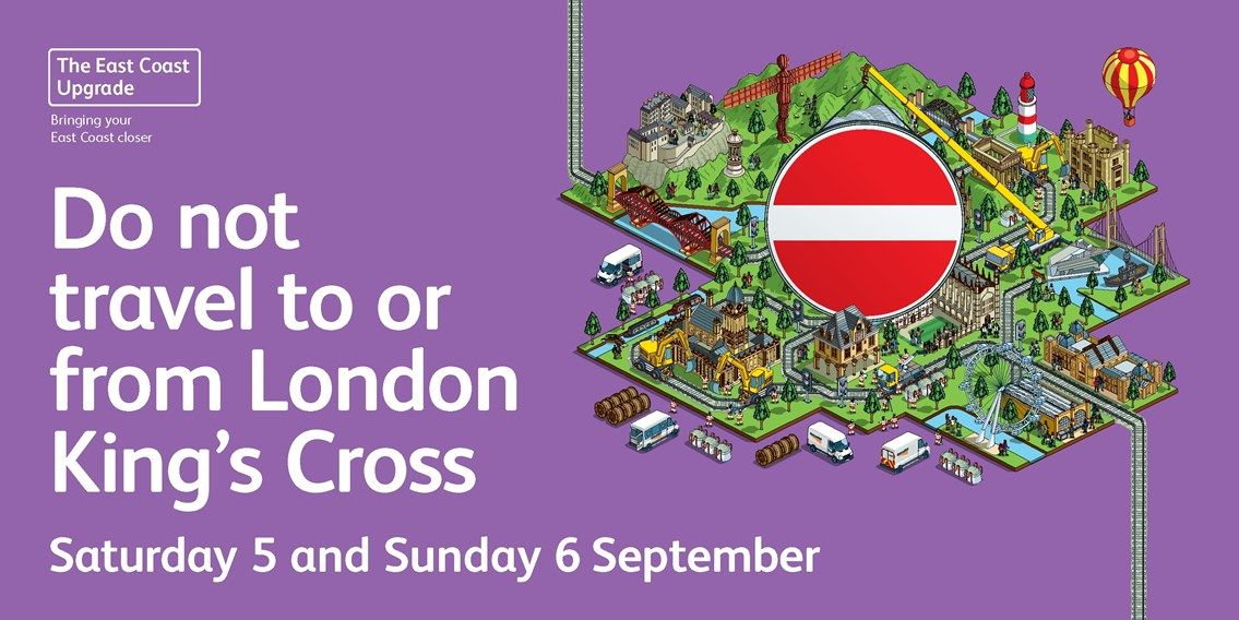 Image showing London Kings Cross closure information poster